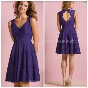 Grape lace fit and flare